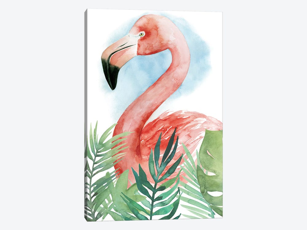 Watercolor Flamingo Composition II by Grace Popp 1-piece Canvas Art