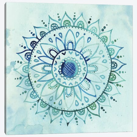 Watercolor Mandala I Canvas Print #POP290} by Grace Popp Canvas Print