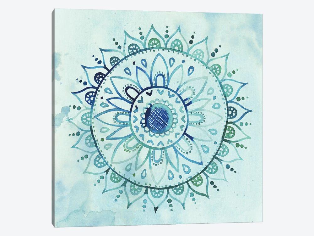 Watercolor Mandala I by Grace Popp 1-piece Canvas Artwork