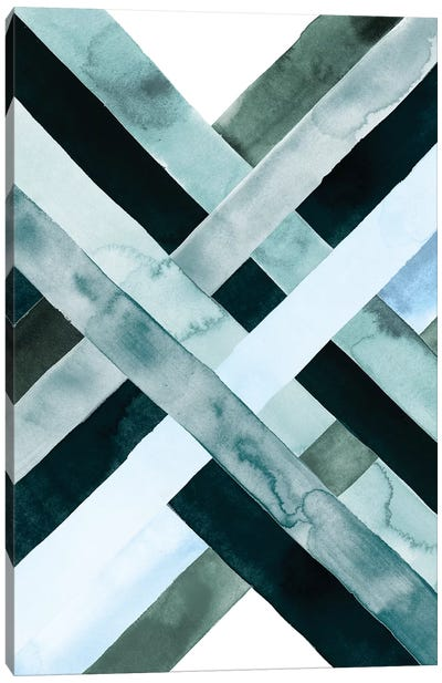 Watercolor Weave I Canvas Art Print