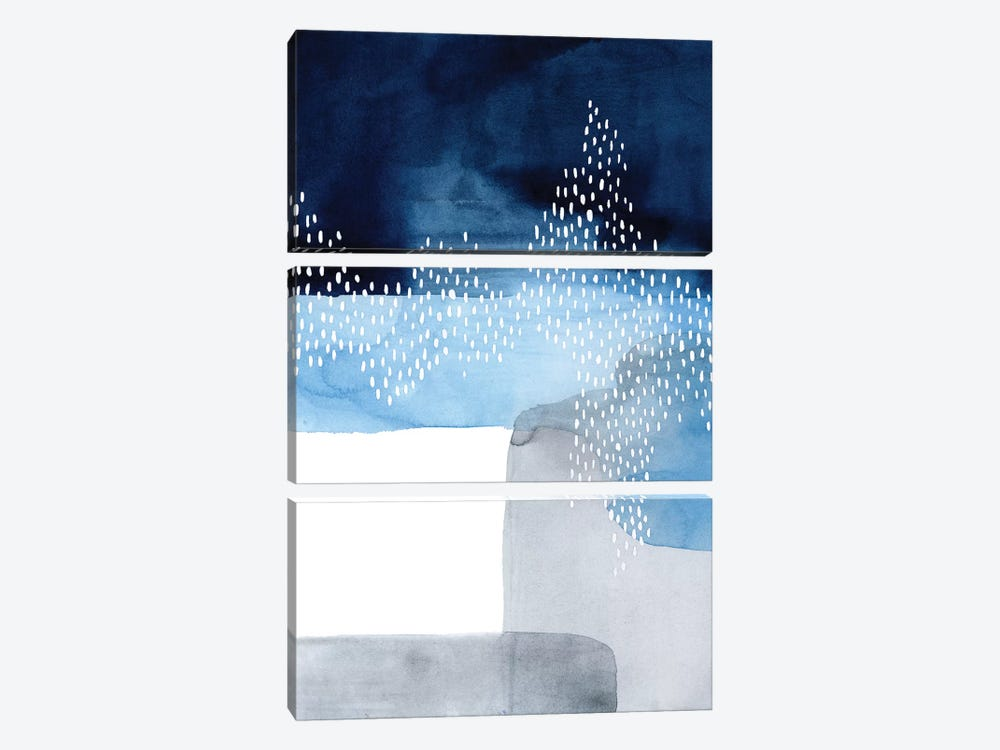 Waterfall Abstract I by Grace Popp 3-piece Canvas Art