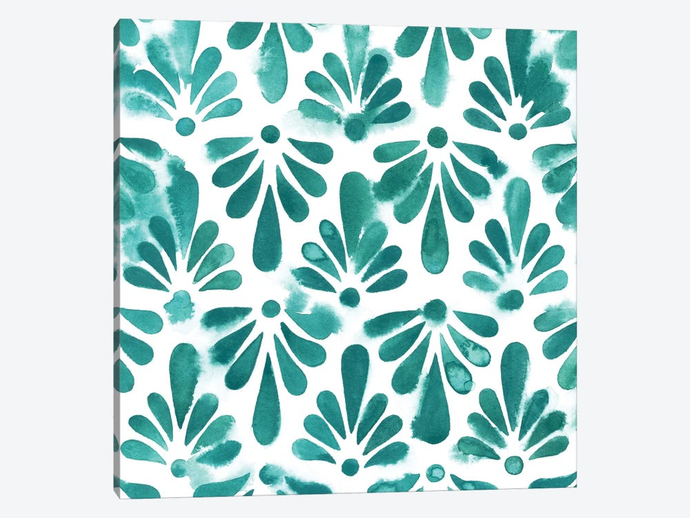 Aquamarine Motif I 1-piece Canvas Art