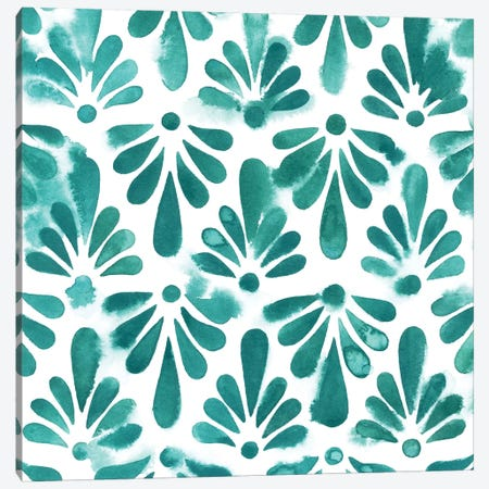 Aquamarine Motif I Canvas Print #POP298} by Grace Popp Art Print