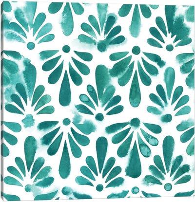 Aquamarine Motif I Canvas Art Print