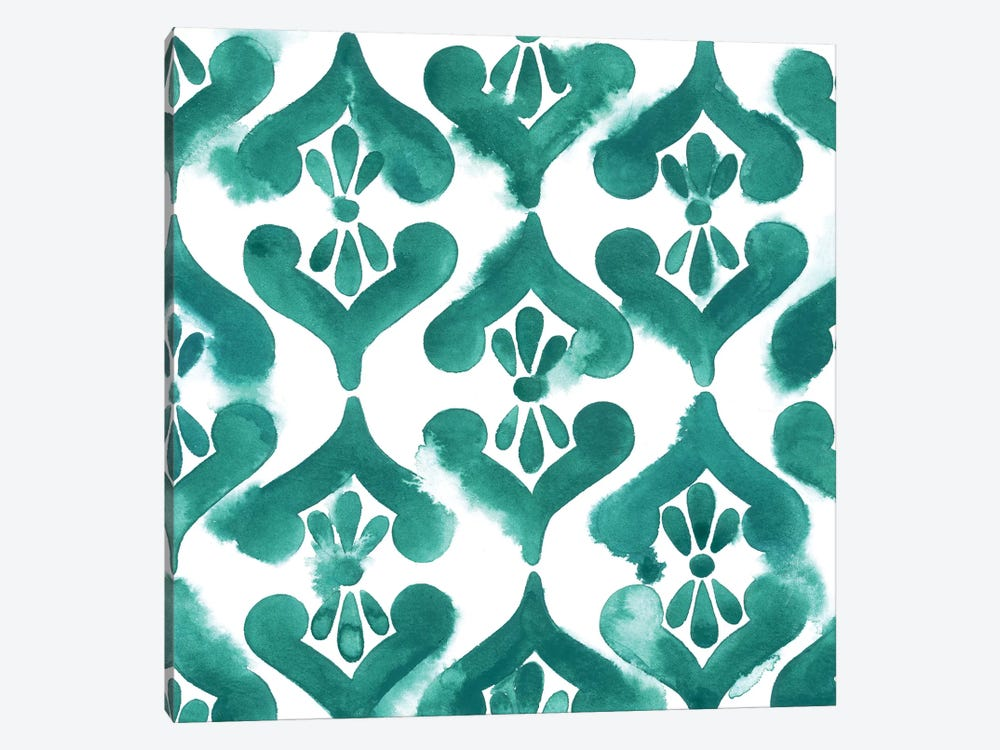 Aquamarine Motif II by Grace Popp 1-piece Canvas Art Print