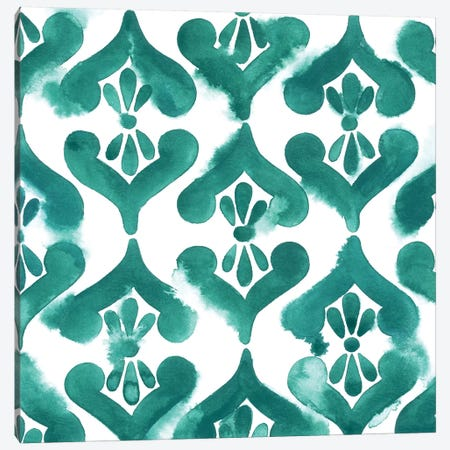 Aquamarine Motif II Canvas Print #POP299} by Grace Popp Canvas Art Print