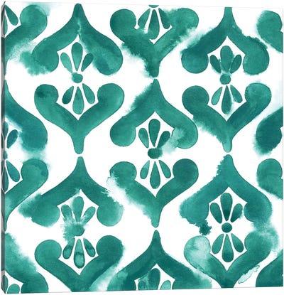 Aquamarine Motif II Canvas Art Print