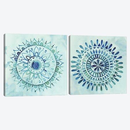 Watercolor Mandala Diptych Canvas Print Set #POP2HSET002} by Grace Popp Canvas Wall Art