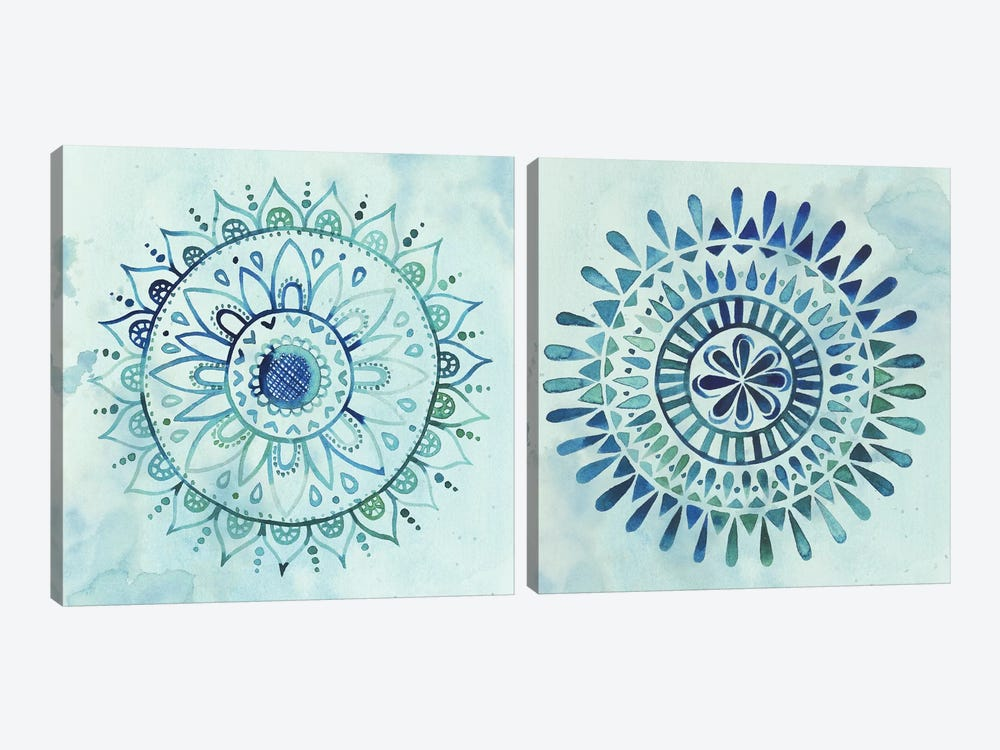 Watercolor Mandala Diptych by Grace Popp 2-piece Art Print