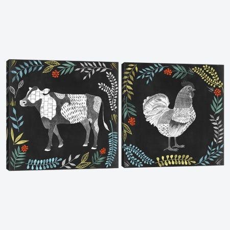Chalkboard Farmhouse Diptych Canvas Print Set #POP2HSET003} by Grace Popp Canvas Art