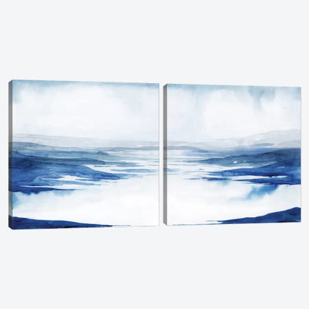 Crystallized Lagoon Diptych Canvas Print Set #POP2HSET004} by Grace Popp Canvas Art Print