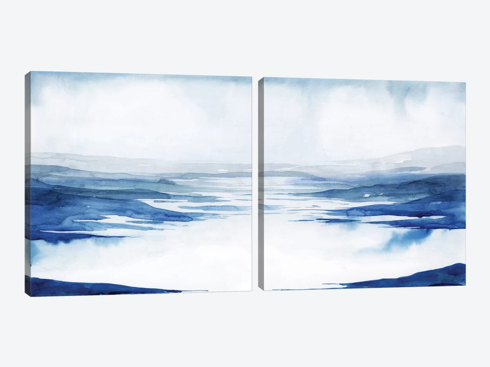 Crystallized Lagoon Diptych by Grace Popp 2-piece Canvas Art Print