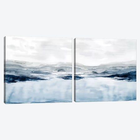 Faded Horizon Diptych Canvas Print Set #POP2HSET005} by Grace Popp Art Print