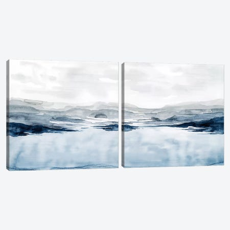 Faded Horizon Diptych Canvas Print Set #POP2HSET005} by Grace Popp Art Print