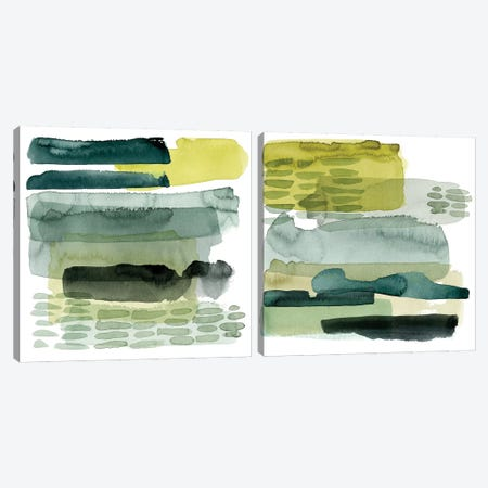 Verdant Stratum Diptych Canvas Print Set #POP2HSET006} by Grace Popp Art Print