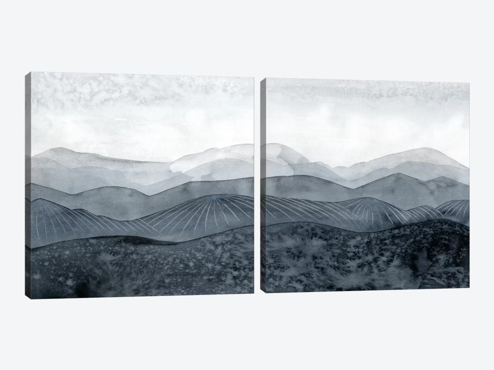 Blustering Valley Diptych by Grace Popp 2-piece Canvas Wall Art