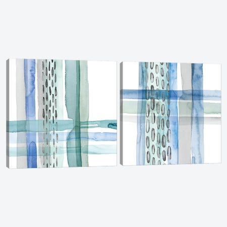 Cross Stitch Diptych Canvas Print Set #POP2HSET008} by Grace Popp Canvas Art