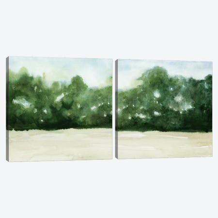 Loose Landscape Diptych Canvas Print Set #POP2HSET009} by Grace Popp Canvas Wall Art
