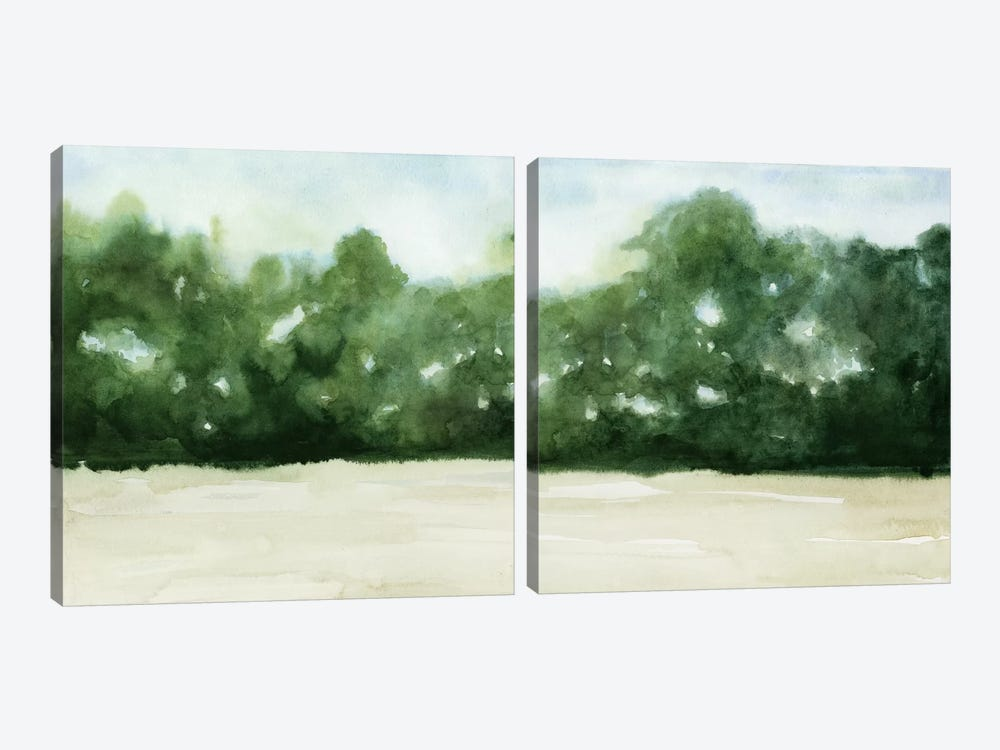 Loose Landscape Diptych by Grace Popp 2-piece Canvas Artwork