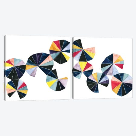 Pinwheel Bright Diptych Canvas Print Set #POP2HSET012} by Grace Popp Canvas Print