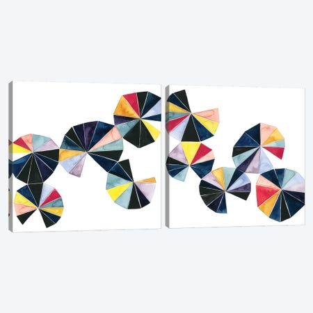 Pinwheel Bright Diptych Canvas Print Set #POP2HSET012} by Grace Popp Canvas Print