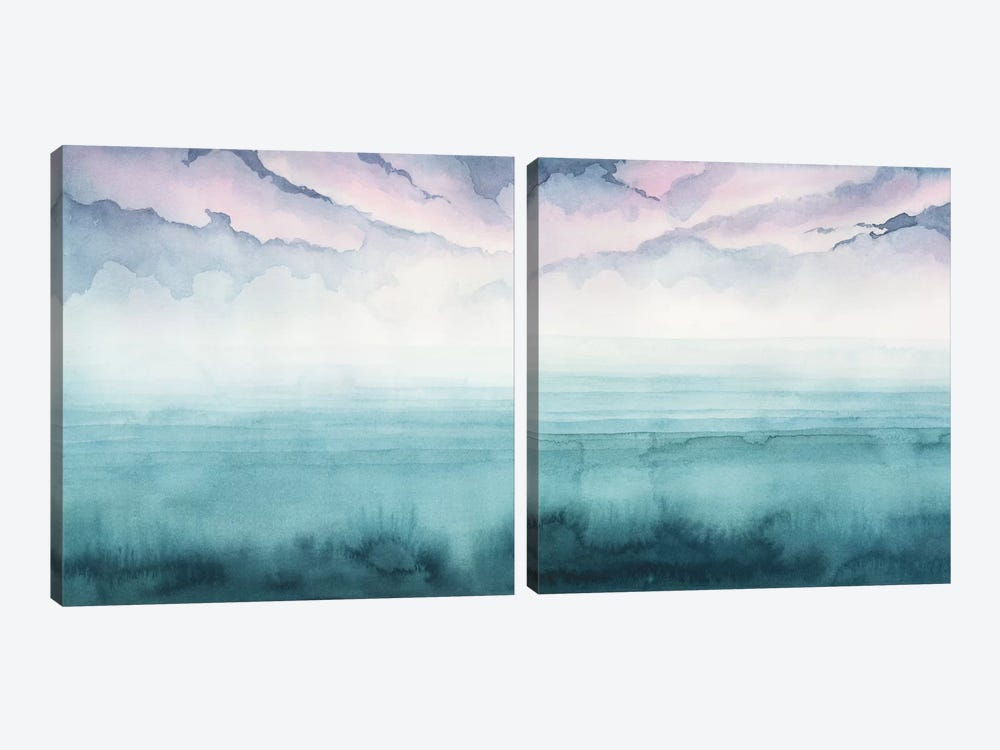 Dusk On The Bay Diptych by Grace Popp 2-piece Art Print