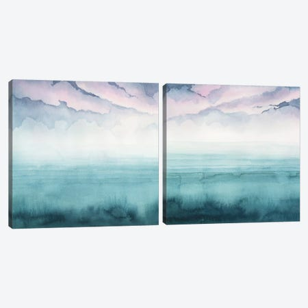 Dusk On The Bay Diptych Canvas Print Set #POP2HSET017} by Grace Popp Canvas Artwork