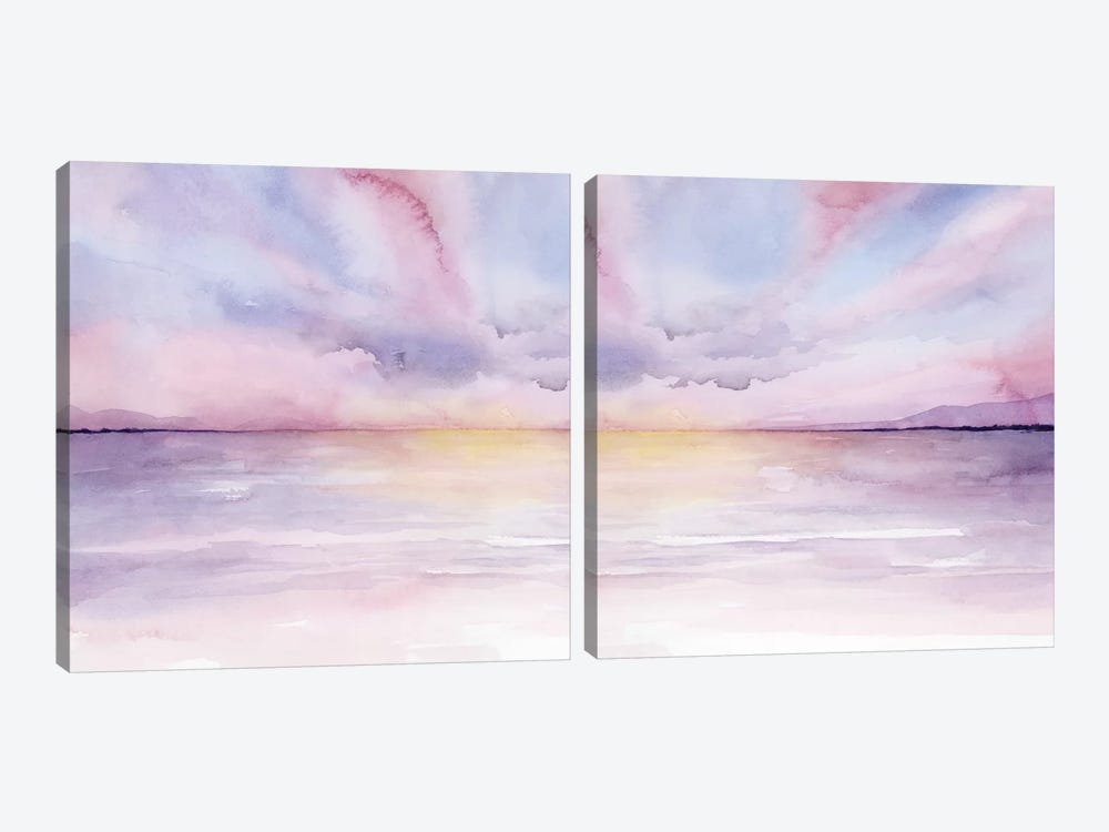 Pale Sunset Diptych by Grace Popp 2-piece Canvas Artwork