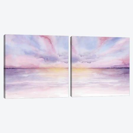 Pale Sunset Diptych Canvas Print Set #POP2HSET018} by Grace Popp Art Print