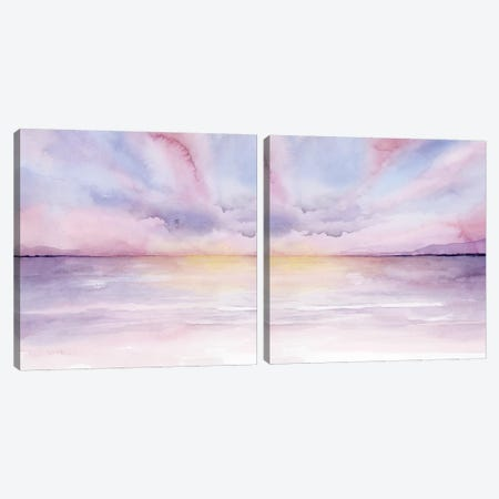 Pale Sunset Diptych Canvas Print Set #POP2HSET018} by Grace Popp Art Print