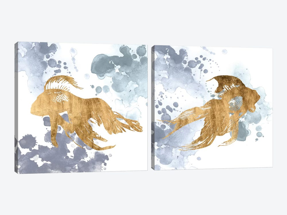 Gilded Splash Diptych by Grace Popp 2-piece Canvas Art Print