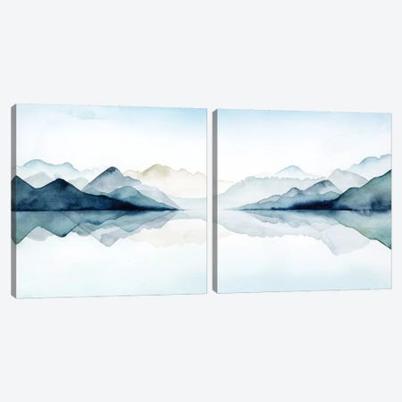 Glacial Diptych Canvas Print Set #POP2HSET024} by Grace Popp Canvas Print