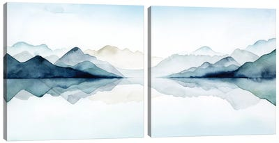 Glacial Diptych Canvas Art Print