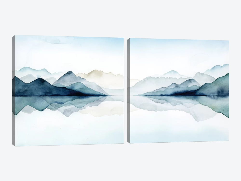 Glacial Diptych by Grace Popp 2-piece Canvas Print