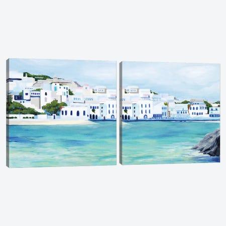 Mykonos Diptych Canvas Print Set #POP2HSET026} by Grace Popp Art Print
