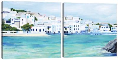 Mykonos Diptych Canvas Art Print