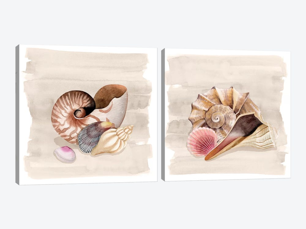 Ocean Keepsake Diptych by Grace Popp 2-piece Canvas Artwork