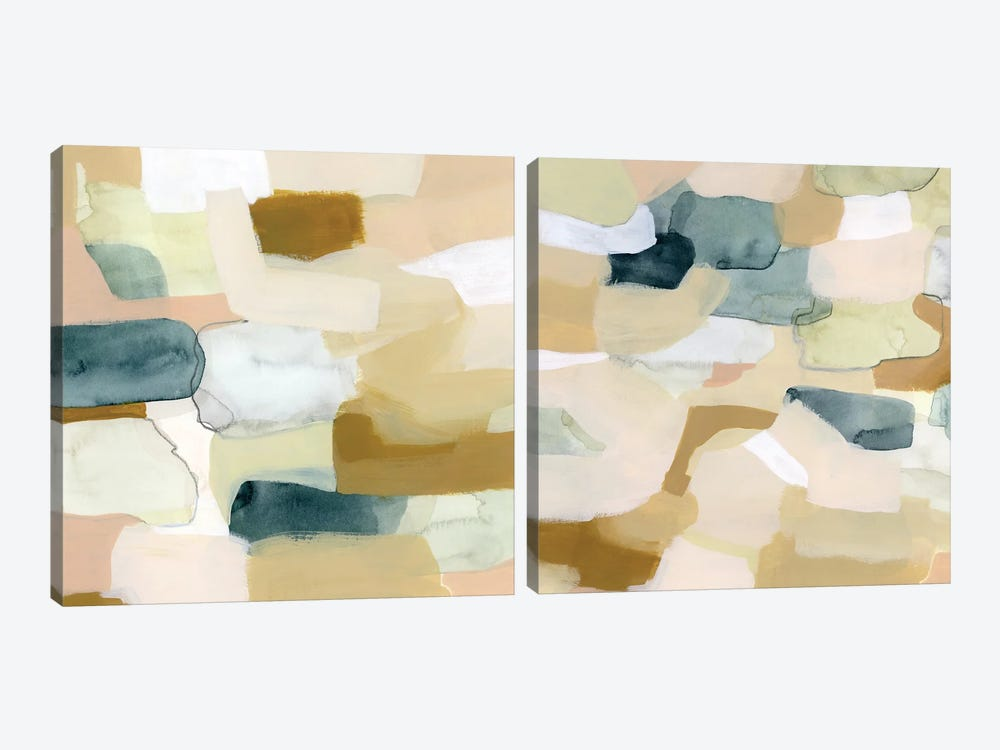Wafer Diptych by Grace Popp 2-piece Canvas Art