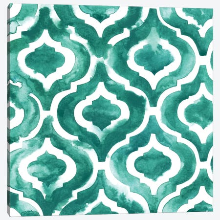 Aquamarine Motif IV Canvas Print #POP301} by Grace Popp Art Print