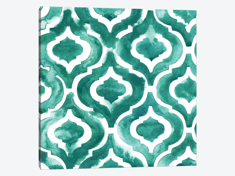 Aquamarine Motif IV by Grace Popp 1-piece Canvas Art Print