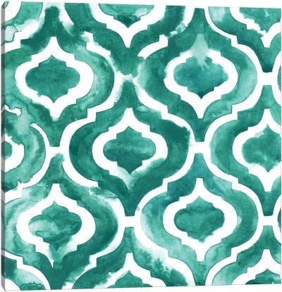 Aquamarine Motif IV Canvas Art Print