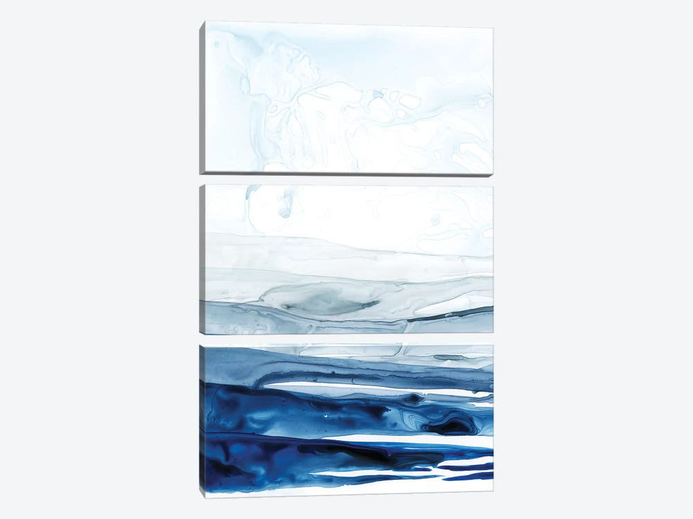 Azure Arctic I by Grace Popp 3-piece Canvas Wall Art