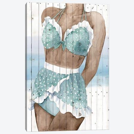 Bygone Bathers I 3-Piece Canvas #POP308} by Grace Popp Canvas Print