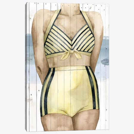 Bygone Bathers III Canvas Print #POP310} by Grace Popp Canvas Art