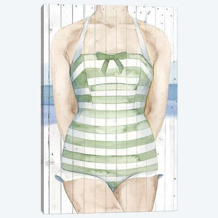 Bygone Bathers IV Canvas Print #POP311} by Grace Popp Canvas Artwork