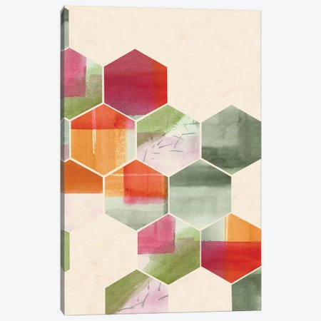 Color Pop Honeycomb I Canvas Print #POP316} by Grace Popp Canvas Print