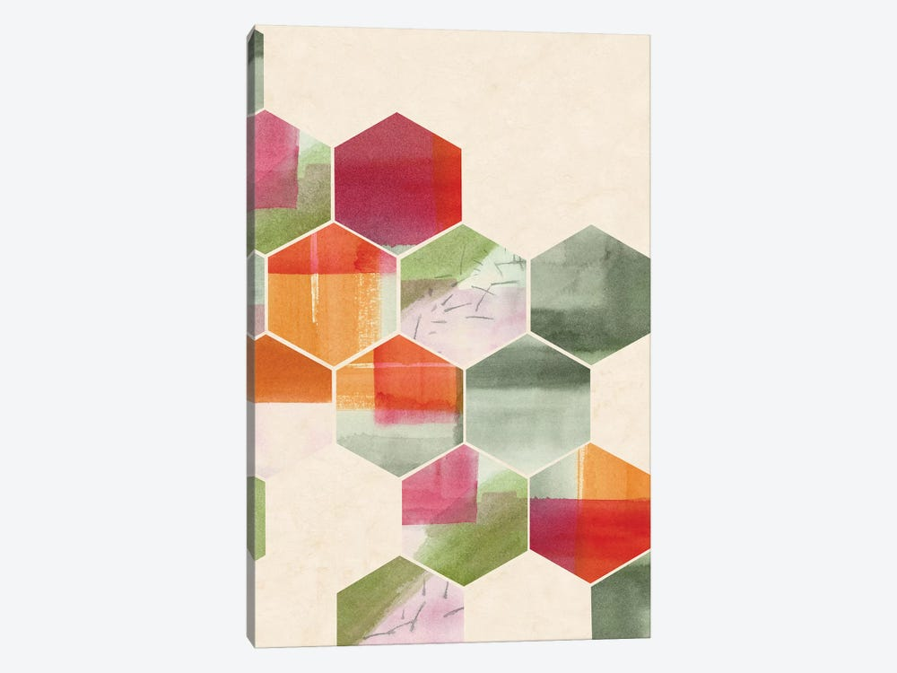 Color Pop Honeycomb I by Grace Popp 1-piece Art Print
