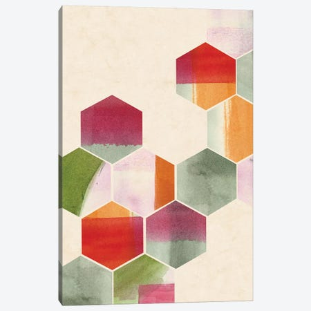 Color Pop Honeycomb II Canvas Print #POP317} by Grace Popp Canvas Art Print