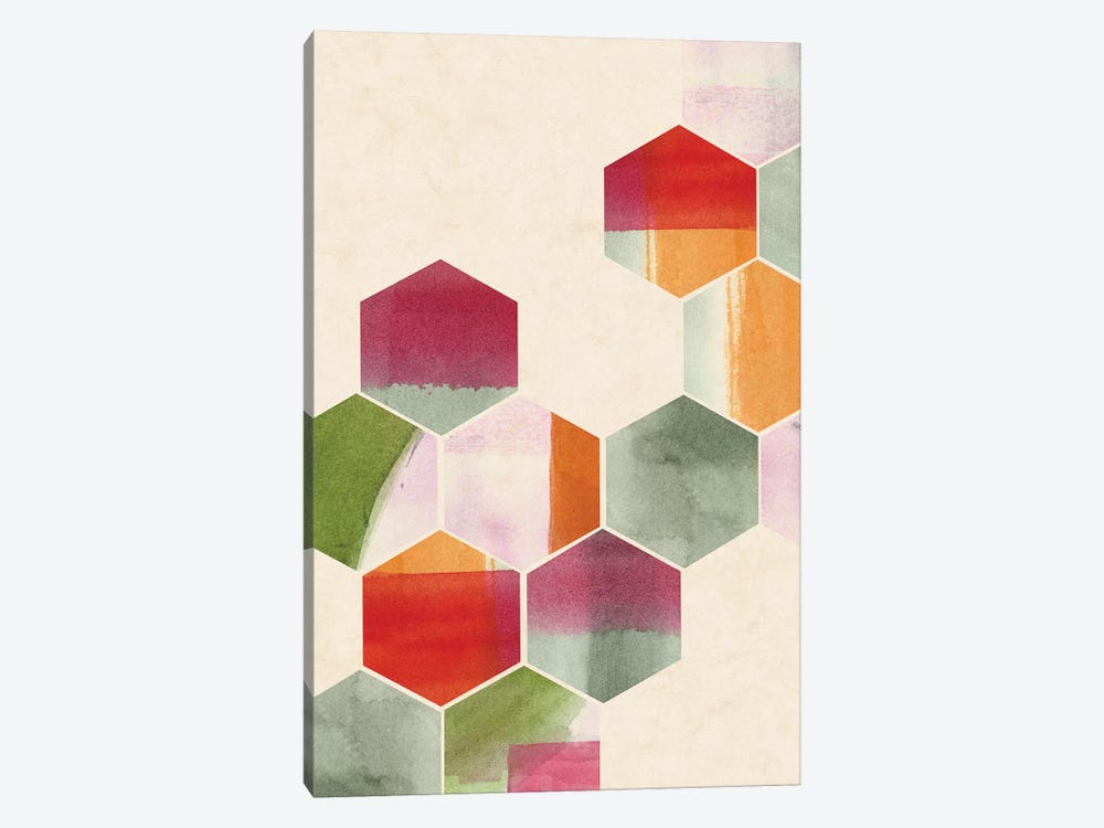 Color Pop Honeycomb II by Grace Popp 1-piece Canvas Art