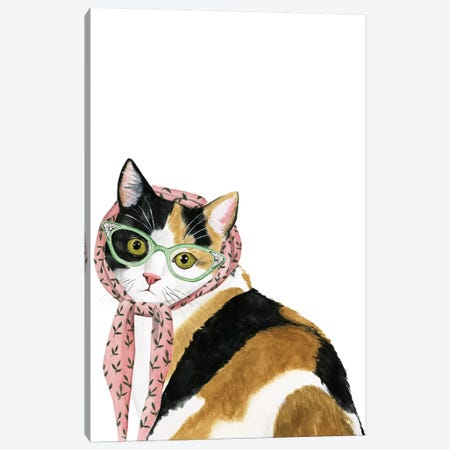 Cool Cat I Canvas Print #POP318} by Grace Popp Canvas Art